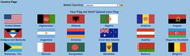 Chọn quốc kỳ