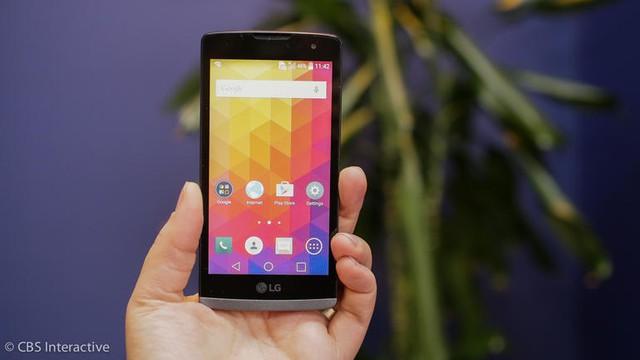 LG Leon được trang bị màn hình cảm ứng điện dung có kích thước 4,5 inch
