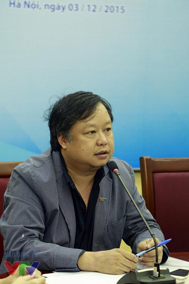 Ông Lương Minh - Phó Trưởng ban Văn nghệ, Đài THVN (đại diện đơn vị tổ chức lễ Khai mạc và Bế mạc LHTHTQ 35)