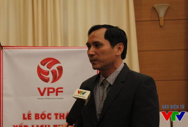Ông Lê Hồng Cường – Tổng Giám đốc CLB Becamex Bình Dương, đội bóng ĐKVĐ V.League 2015.