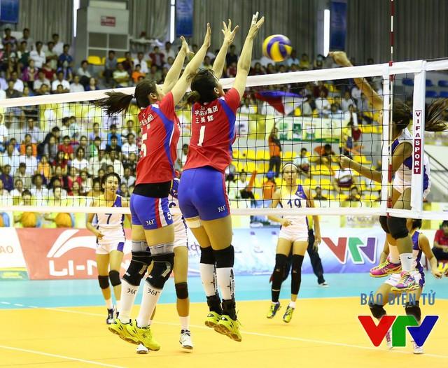 Sự cố gắng của các cô gái Philippines không thể giúp họ tạo nên bất ngờ trước CLB Liêu Ninh