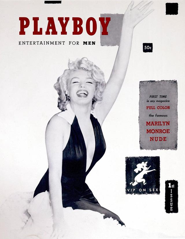Marilyn Monroe trên trang bìa số tạp chí đầu tiên của Playboy, phát hành vào tháng 12/1953. (Ảnh: NY Times)