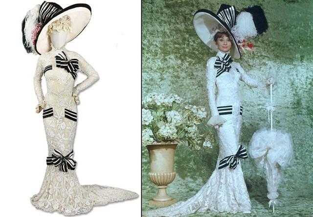 Giữ vị trí số 1 là bộ váy trắng tuyệt đẹp mang tên Ascot từng được Audrey Hepburn mặc trong bộ phim đình đám năm 1964 - My Fair Lady. Bộ váy được bán với cái giá kỷ lục 4,5 triệu USD