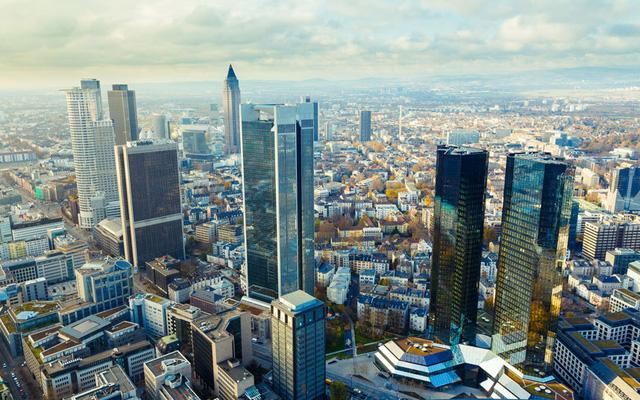 Thành phố Frankfurt là trung tâm tài chính của Đức. Ảnh: AP/FOTOLIA.