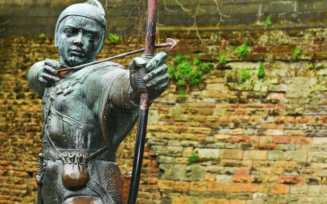 Tượng Robin Hood. Ảnh: AP/FOTOLIA