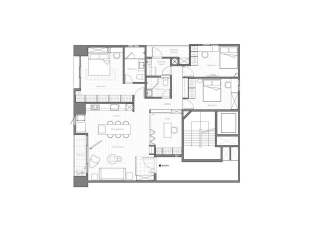 Thiết kế hiện trạng của căn hộ