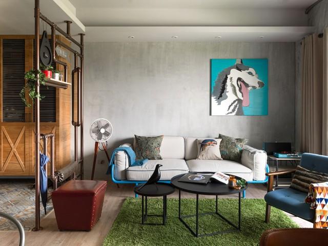 Các KTS đã lựa chọn bộ sofa và ghế bành có kích thước thích hợp đối với phòng khách