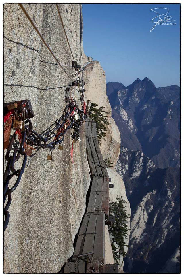 Cầu trên núi Hoa Sơn, Trung Quốc