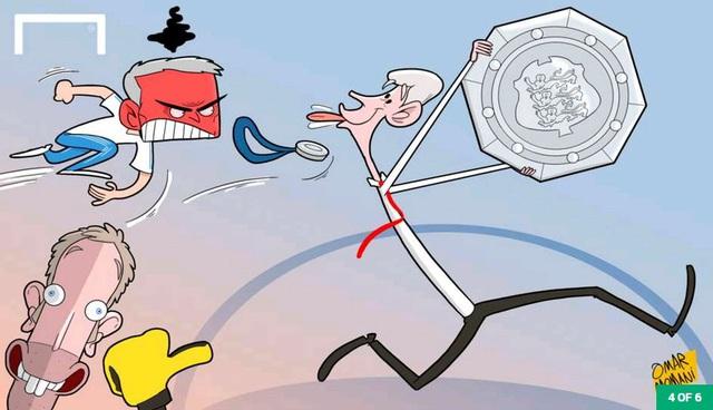 Sau khi trận đấu kết thúc, HLV Wenger giúp Arsenal giành dĩa bạc còn HLV Mourinho có phen tức đỏ mặt khi người đồng nhiệm không thèm bắt tay sau trận. Tức tối vì mất danh hiệu, HLV Mourinho ném luôn huy chương bạc lên khán đài.