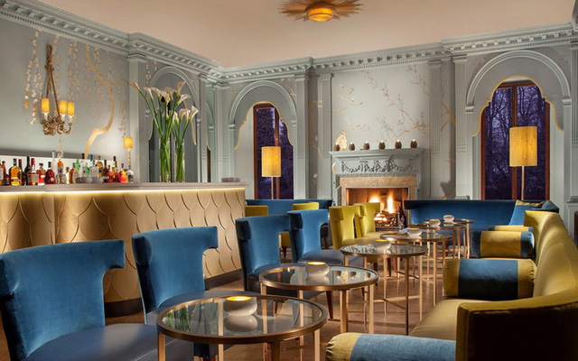 Quầy bar được thiết kế theo phong cách khá hiện đại. Theo một nguồn tin, Kim Sears đã lên đó để chọn loại đồ uống trong ngày trọng đại của mình.