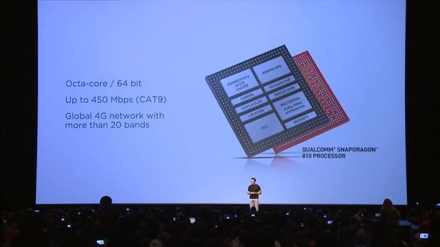 HTC One M9 sở hữu bộ vi xử lý Snapdragon 810 của Qualcomm