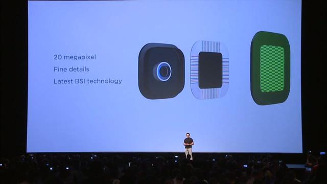 Camera chính của HTC One M9 có độ phân giải lên tới 20MP, tích hợp công nghệ BSI mới nhất