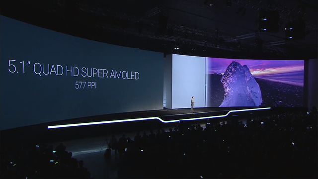 Galaxy S6 và Galaxy S6 Edge sở hữu màn hình Super AMOLED Quad HD có kích thước 5,1 inch, mật độ điểm ảnh 577 ppi