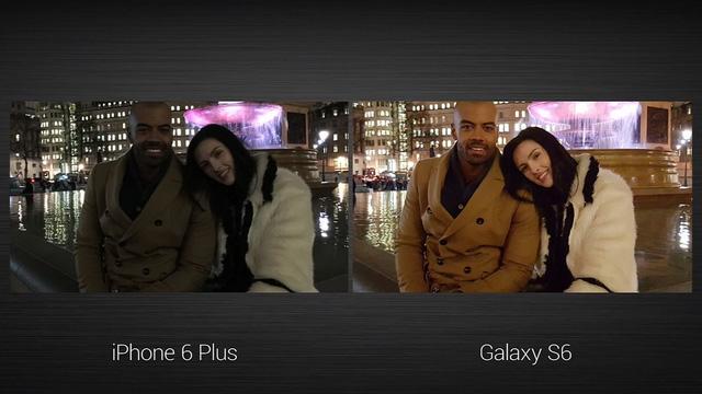 Samsung so sánh ảnh chụp bởi Galaxy S6 và iPhone 6 Plus