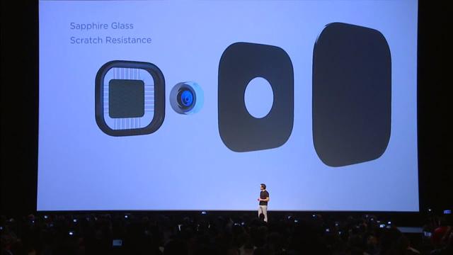 Camera được trang bị lớp kính bảo vệ bằng Sapphire
