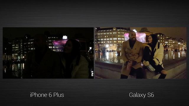 So sánh khả năng quay video thiếu sáng của Galaxy S6 và iPhone 6 Plus