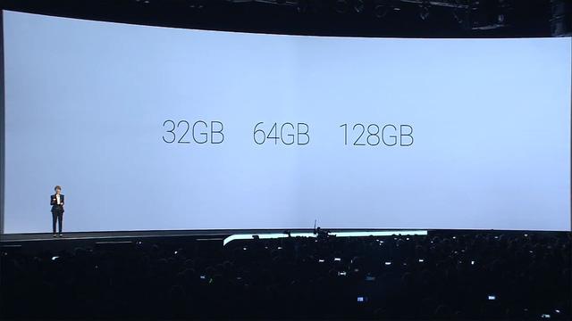 Galaxy S6 và Galaxy S6 Edge có 3 phiên bản bộ nhớ bao gồm: 32GB, 64GB và 128GB