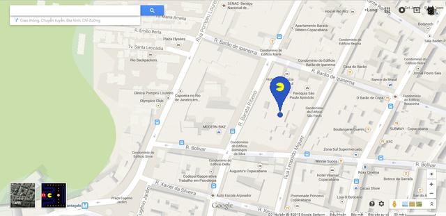 Điểm đánh dấu khu vực có PAC-MAN trên bản đồ