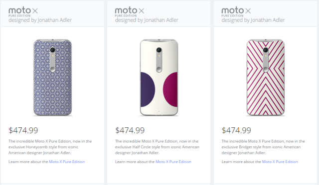 Moto X Pure phiên bản mới sẽ có giá cao hơn 25 USD so với mức giá của phiên bản thường