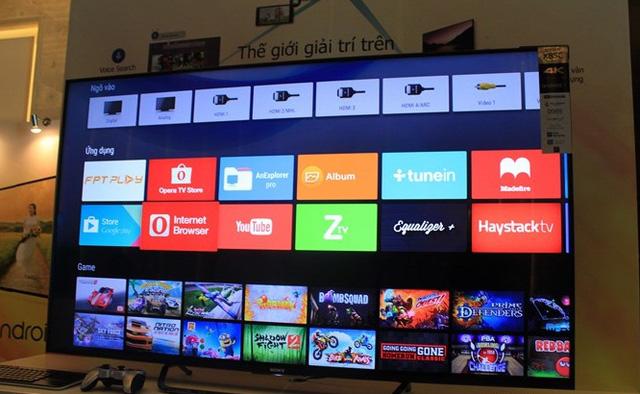 Bravia 4K Android TV 2015 chạy trên hệ điều hành Android