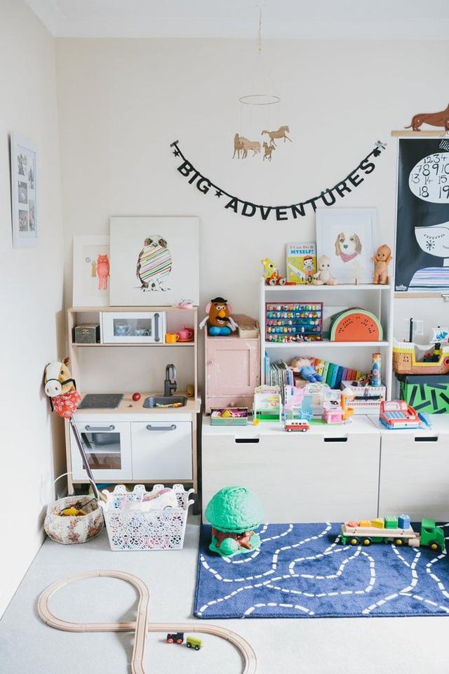 Phòng dành cho con trai của Laura cũng là nơi giúp bé kích thích khả năng sáng tạo và trí tưởng tượng.