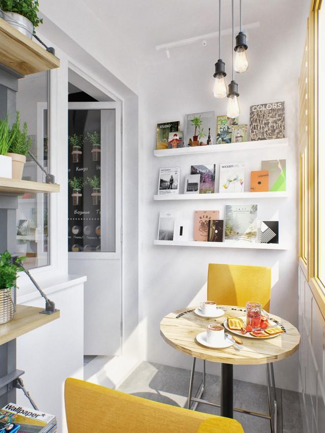 Chủ nhân cũng tận dụng một phần không gian trong nhà để làm nơi tuyệt vời khởi đầu ngày mới.