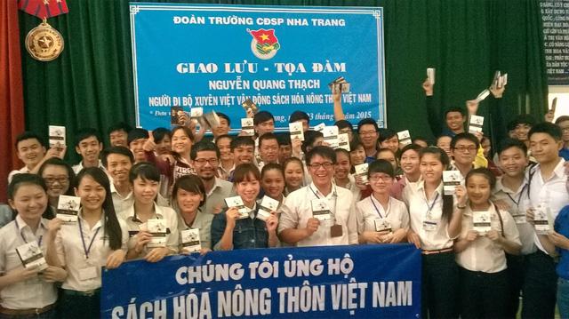 Chương trình Sách hóa nông thôn Việt Nam được đông đảo các bạn sinh viên tham gia (Ảnh nhân vật cung cấp).