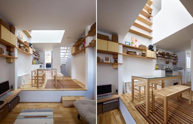 Để tạo cảm giác rộng rãi hơn cho người ở, ngôi nhà được thiết kế với không gian mở.