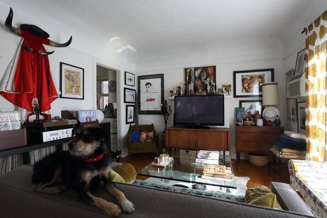 Chủ nhân là một người yêu nghệ thuật nên phòng khách được trang trí thêm bằng nhiều bức họa, bức ảnh sinh động.