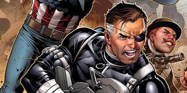 Nhân vật Nick Fury trong phiên bản truyện gốc.