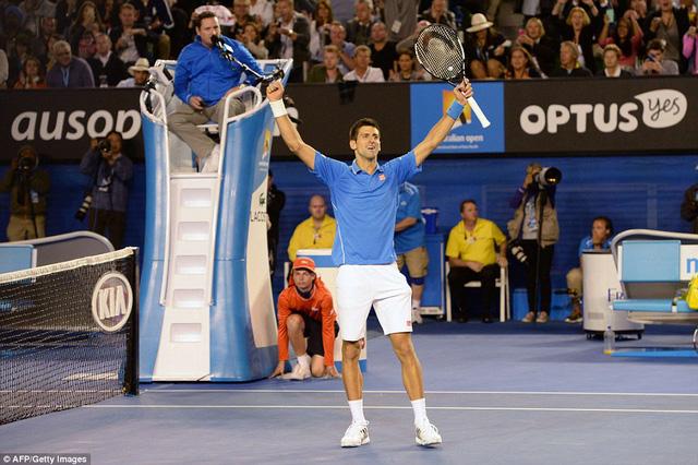 Trận đấu đi về cuối và Nole thống trị hoàn toàn set 4 để giành chiến thắng chung cuộc với tỉ số 3-1.