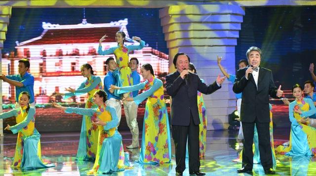 NSND Trung Kiên và NSND Quang Thọ tham gia Giai điệu tự hào tháng 4.