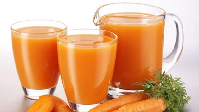 Nước ép cà rốt có hàm lượng cao các chất kali, magiê, canxi, là nguồn cung cấp beta-carotene, giúp tăng cường thị lực.