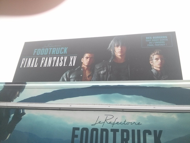 Băng-rôn quảng cáo game Final Fantasy XV nổi bật