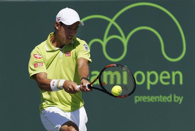Kei Nishikori dễ dàng lọt vào tứ kết Miami Open 2015