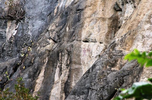 Những nét vẽ trên núi Pha Phứng.