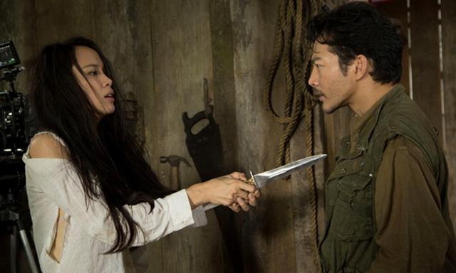 Quyên (Vũ Ngọc Anh) và Hùng (Trần Bảo Sơn) trong một cảnh phim