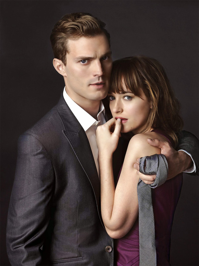 Hai diễn viên chính của phim - Jamie Dornan và Dakota Johnson.