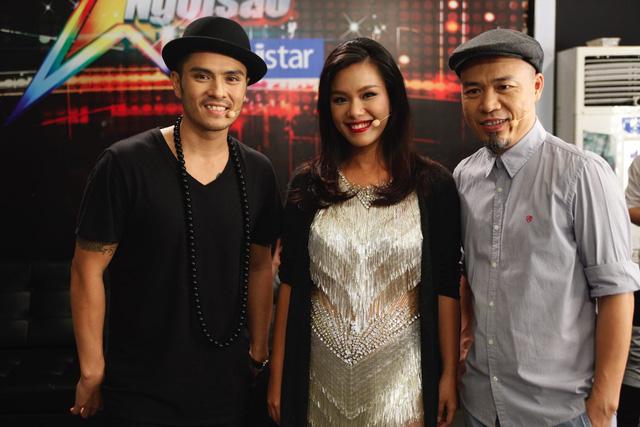 Bộ ba Ban giám khảo Học viện ngôi sao 2015 gồm Biên đạo múa Alex, ca sĩ Phương Vy và nhạc sỹ Huy Tuấn.