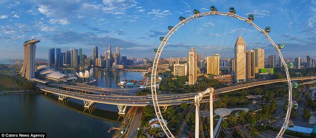 Thành phố Singapore nhìn từ trên cao