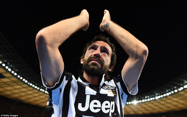 Có lẽ, đây là trận chung kết Champions League cuối cùng trong sự nghiệp của cầu thủ tài hoa Pirlo.