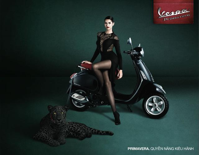 Phiên bản Vespa Primavera màu đen thể hiện sự đẳng cấp, quyền lực, quyến rũ (Ảnh: Trí Thức Trẻ)