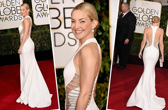 Kate tỏa sáng với chiếc váy của thương hiệu Versace, giày hiệu Brian Atwood.