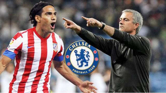 Jose Mourinho theo đuổi Radamel Falcao từ khi cầu thủ này còn chơi cho Atletico Madrid