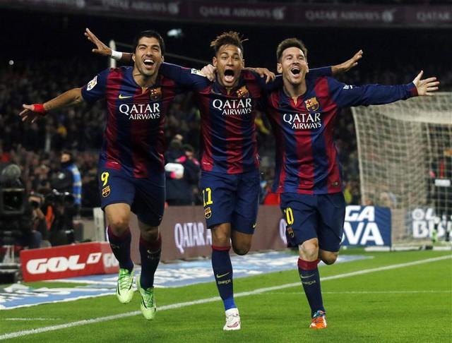 Bộ đinh ba Neymar-Messi- Suarez