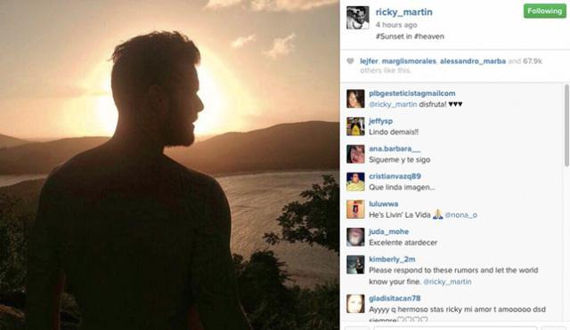 Bức ảnh mới nhất được Ricky đăng tải trên trang Instagram của anh.