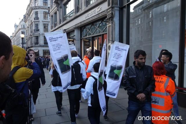 Banner quảng cáo Galaxy S6 Edge Plus kèm theo thông điệp từ Samsung (Ảnh: Android Central)