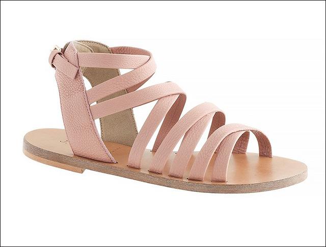 Sandals màu hồng phấn của J.Crew