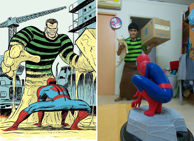 Sandman và Spiderman