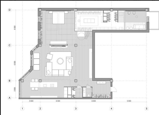 Bản vẽ thiết kế của căn hộ